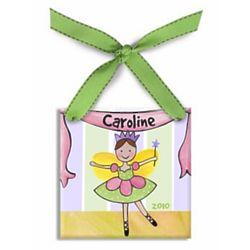 Personalized Fairy Ballerina Christmas Ornament