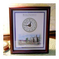 Personalized Alma Mater Desk Clock