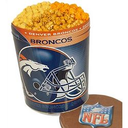 Denver Broncos 3 Way Popcorn Tin