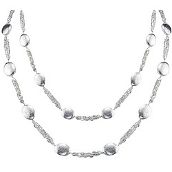36 Inch Long Silver Strand Necklace
