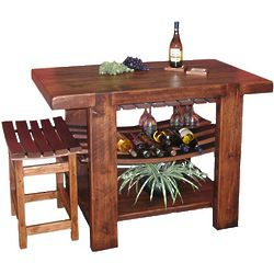 Wine Barrel Kitchen Island