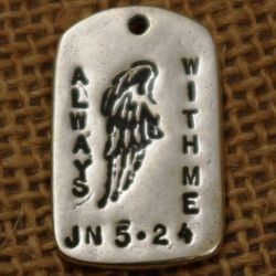 """Always with Me"" GodTag Sympathy Pendant"