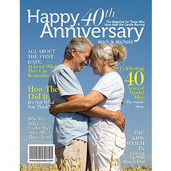 40th Anniversary Personalized Magazine Cover
