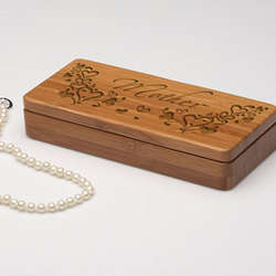 Personalized Outpouring of Love Wooden Jewelry Box