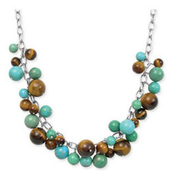 Turquoise and Tiger Eye Bead Necklace