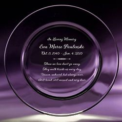 Personalized Memorial Crystal Plate