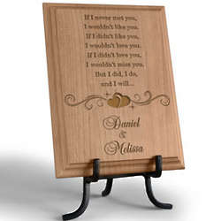 Personalized I Will Always Love You Wooden Plaque