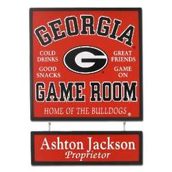 Georgia Bulldogs Game Room Sign