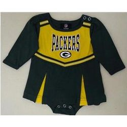 Green Bay Packers Newborn Cheerleader Romper Dress