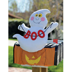 Halloween Ghost Mailbox Topper