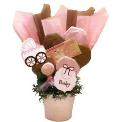 Baby Girl Cookie Pot Bouquet