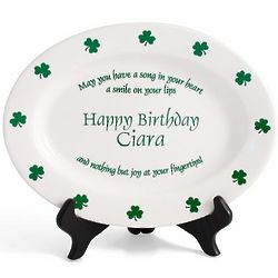 Personalized Irish Proverb Birthday Plate