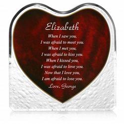 Romantic Poem Heart Plaque