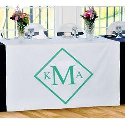 Personalized Diamond Monogram Table Runner