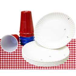 Reusable Plastic Cups and Plates