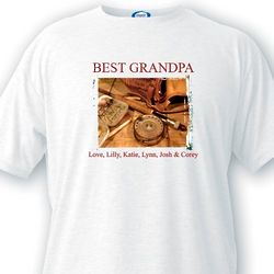 Best Grandpa Fishing T-Shirt