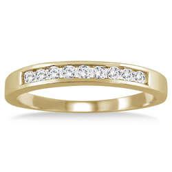 10K Yellow Gold Channel Set Diamond Band