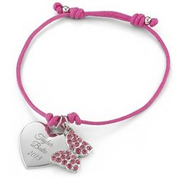 Pink Butterfly Friendship Bracelet