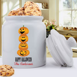 Halloween Themed Personalized Cookie Jars
