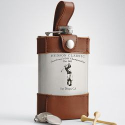 Personalized Golf Flask with Accessories