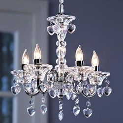 Girl's Crystal Hearts Chandelier