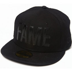 Men's Black Canvas Hall of Fame Fitted Cap