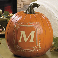 Personalized Single Initial Pumpkin