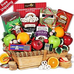 Christmas Fruit and Treats Gourmet Gift Basket