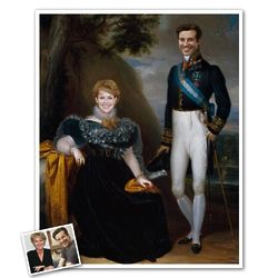 Classic Painting Royal Couple II Personalized Print