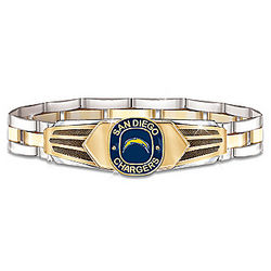 San Diego Chargers Stainless Steel Men's Bracelet