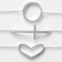 Inspire Icon Silver Plated Bracelet