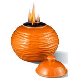 Longfire Orange Ceramic Flame Pot