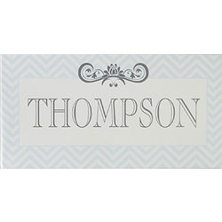 Chevron Class Personalized Family Name Canvas Print