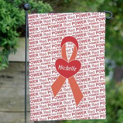 Personalized Awareness Ribbon Garden Flag