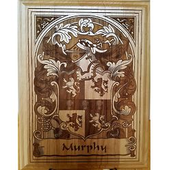 Book Plate Design Coat of Arms Wood Plaque