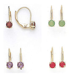Children's Birthstone Earrings