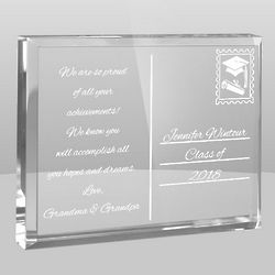Graduation Postcard from the Heart Plaque