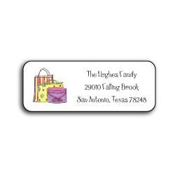 'Shop Til You Drop' Personalized Address Labels