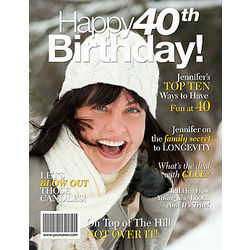 40th Birthday Personalized Magazine Cover