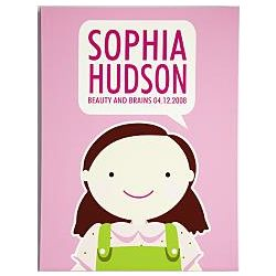 Personalized Girl's Portrait Wall Art on Canvas