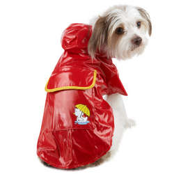 Dog Raincoat with Snap-On Hood