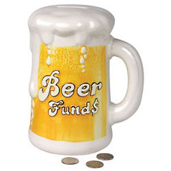 Beer Funds Ceramic Money Bank