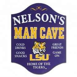 LSU Personalized Mancave Sign