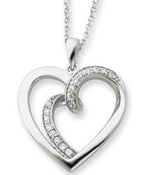 Soulmate Sterling Silver Heart Pendant