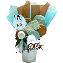 Baby Boy Cookie Pot Bouquet