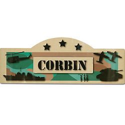 Personalized Military Kid's Sign