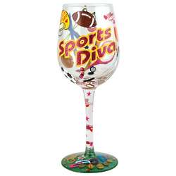 Sports Diva Wine Glass