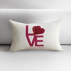 Personalized Love Throw Pillow Cover