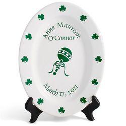 New Baby's Personalized Irish Birthday Plate
