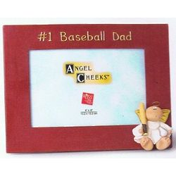 #1 Dad Baseball Picture Frame